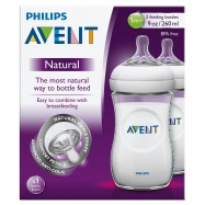 image of Avent Natural Feeding Bottle 2x330ml