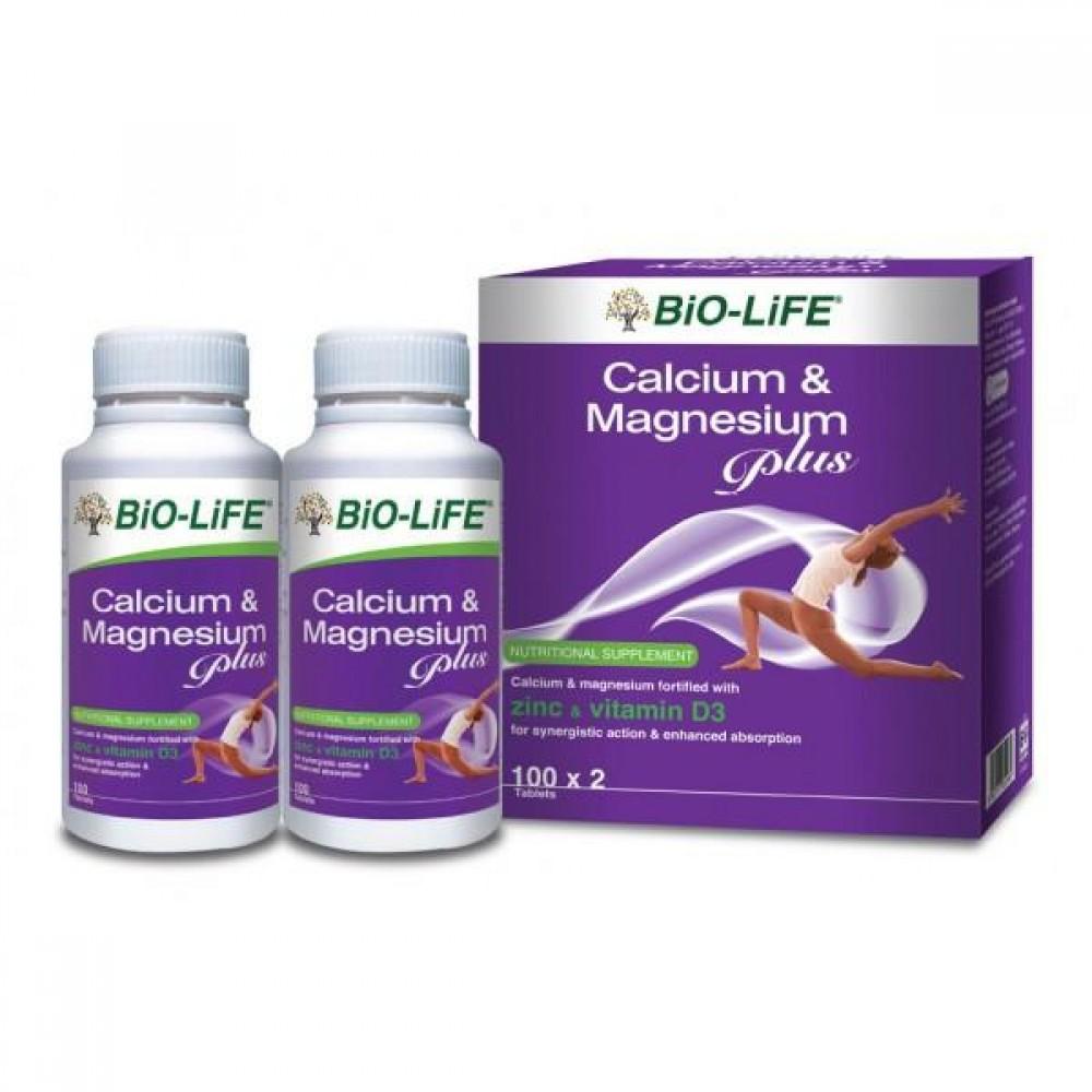 BIO-LIFE CALCIUM MAGNESIUM PLUS 2*100S
