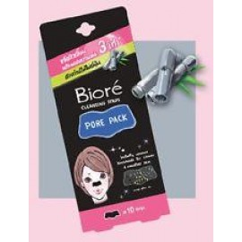 image of Biore Cleansing Nose Strips Pore Pack With Bamboo Charcoal 10 Strips