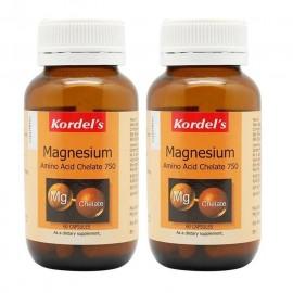 image of Kordels Magnesium Amino Acid Chelate 750 60 capsulesx2 bottles