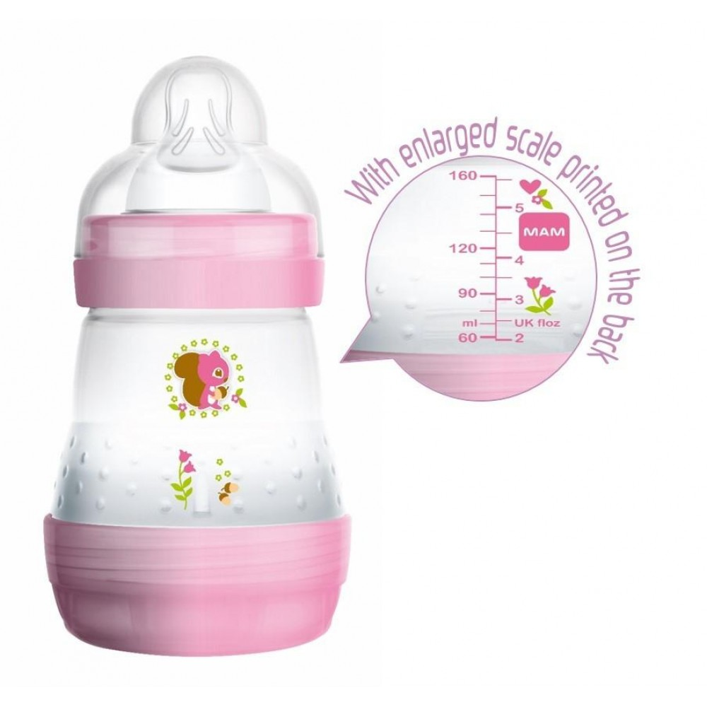 Mam 0+ Month Baby Bottle Anti-Cloric 2x160ml