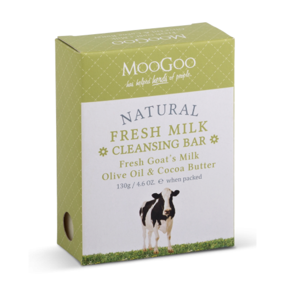 Moo Goo Fresh Milk Cleansing Bar Fresh Goats Milk ,Olive Oil and Cocoa Butter 130g