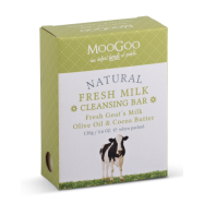 image of Moo Goo Fresh Milk Cleansing Bar Fresh Goats Milk ,Olive Oil and Cocoa Butter 130g