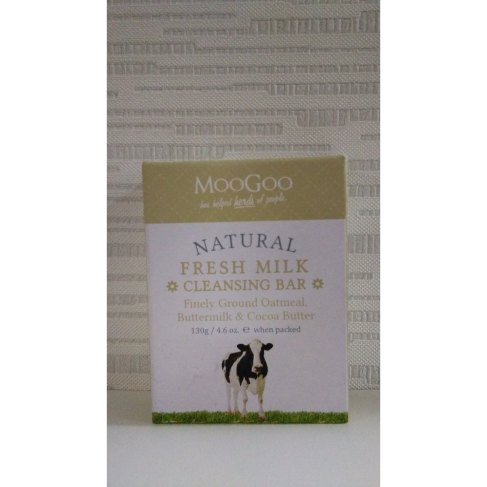 MooGoo Fresh Milk Cleansing Bar (Finely Ground Oatmeal,Buttermilk and Cocoa Butter) 130g