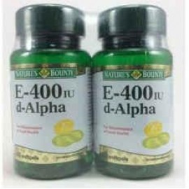 image of NATURES BOUNTY E-400iu d-ALPHA 2 x 60s