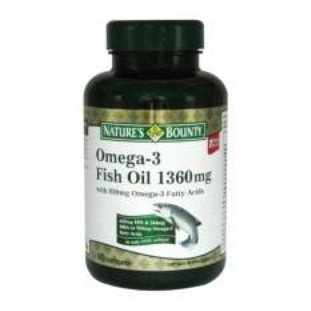 NATURES BOUNTY OMEGA-3 FISH OIL 1360mg 90S