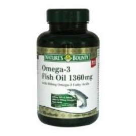 image of NATURES BOUNTY OMEGA-3 FISH OIL 1360mg 90S
