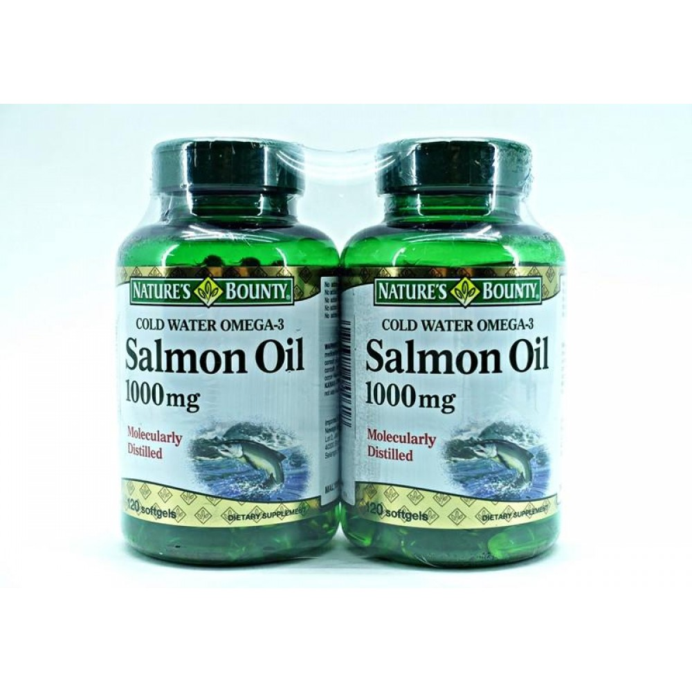 NATURES BOUNTY SALMON OIL 1000MG 2 X 120S