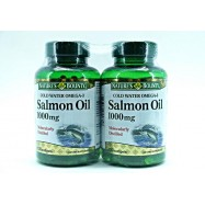 image of  NATURES BOUNTY SALMON OIL 1000MG 2 X 120S