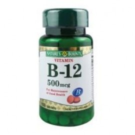 image of NATURES BOUNTY VITAMIN B-12 500mcg 100S