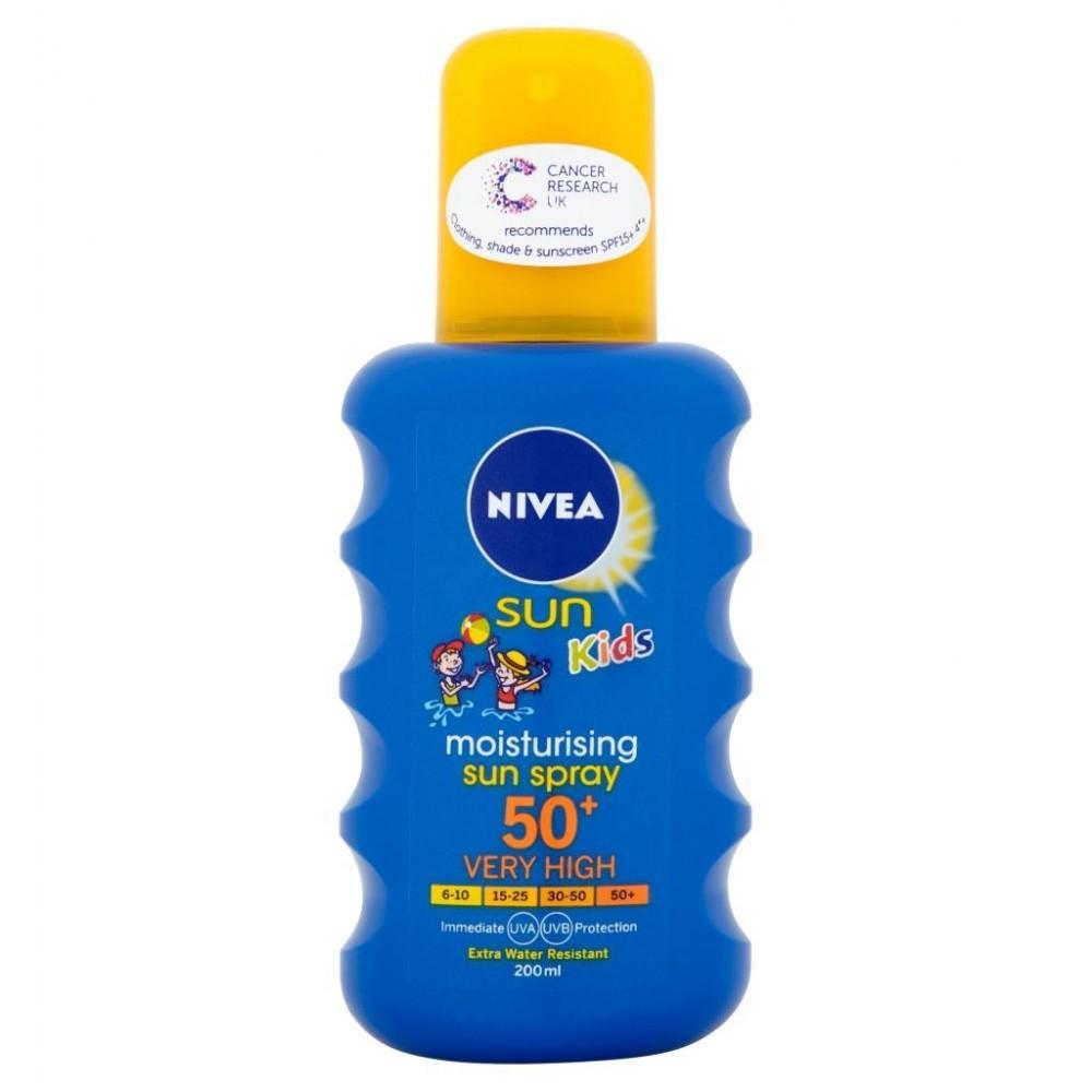 Nivea Sun Kids Moisturising Sun Spray Very High SPF 50+( 200 ml)