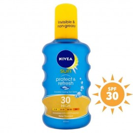 image of Nivea Sun Protect & Refresh Invisible Cooling Sun Spray SPF 30 High 200ml