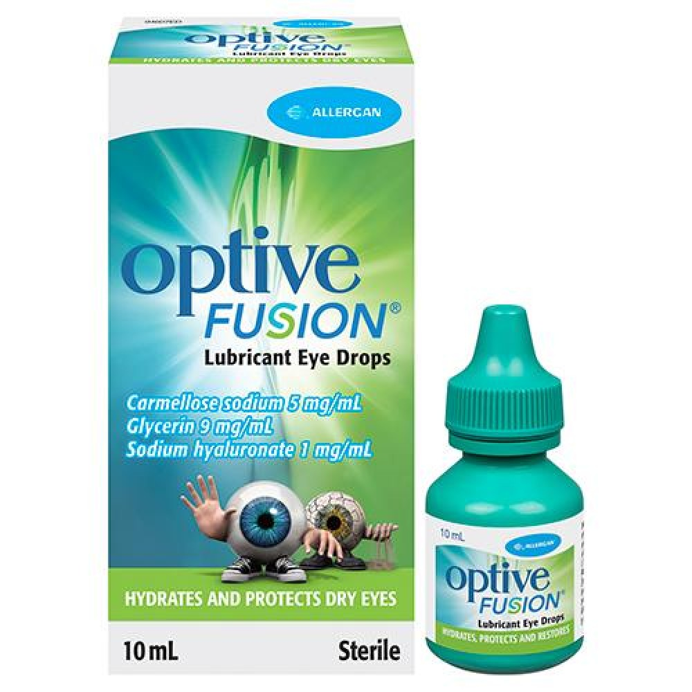 Optive Fusion Lubricant Eye Drops 10ml
