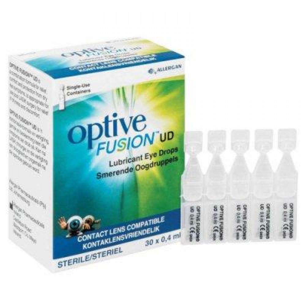 Optive Fusion UD Lubricant Eye Drops 30x0.4ml