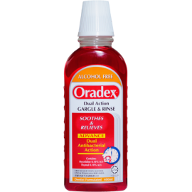 image of Oradex Dual Action Gargle and rince 400ml