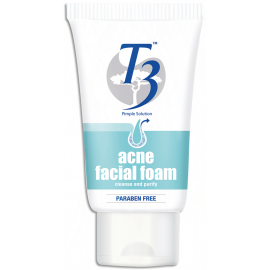 image of T3 Acne Facial Foam 100g Paraben Free