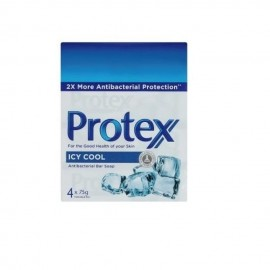 image of Protex Icy Cool Antibacterial Bar Soap 4 x 75g