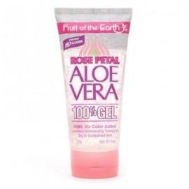 image of Fruit of the Earth Aloe Vera 100% Gel, Rose Petal, 6 Oz 170g