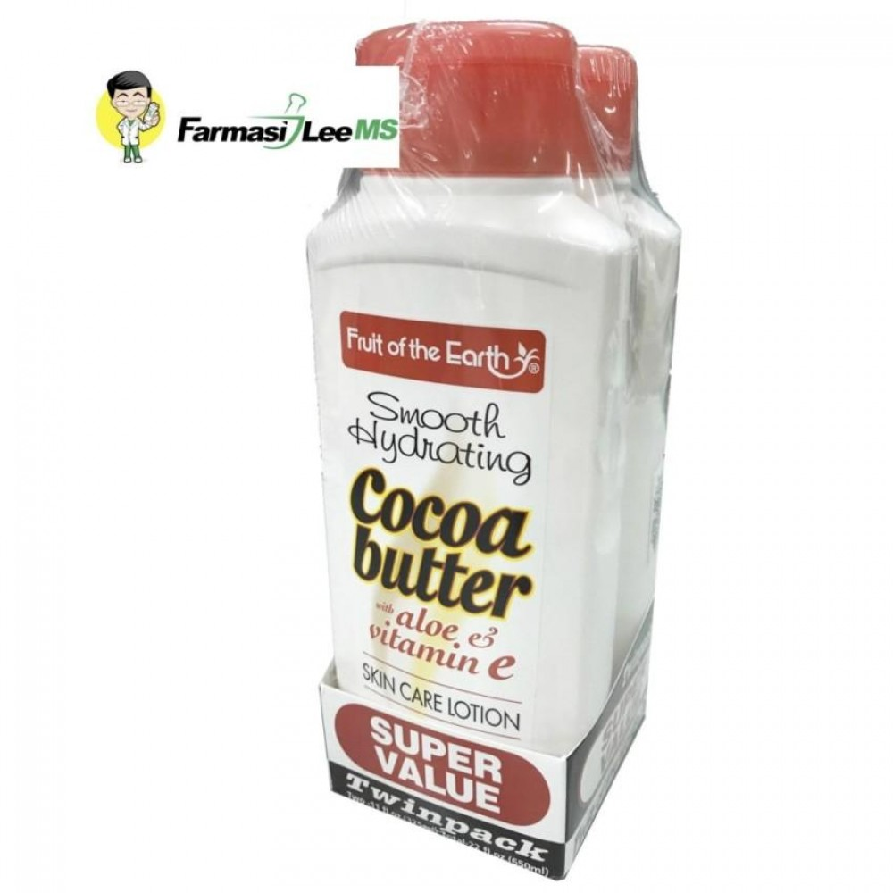 Fruit of the Earth Cocoa Butter Lotion 2x325ml