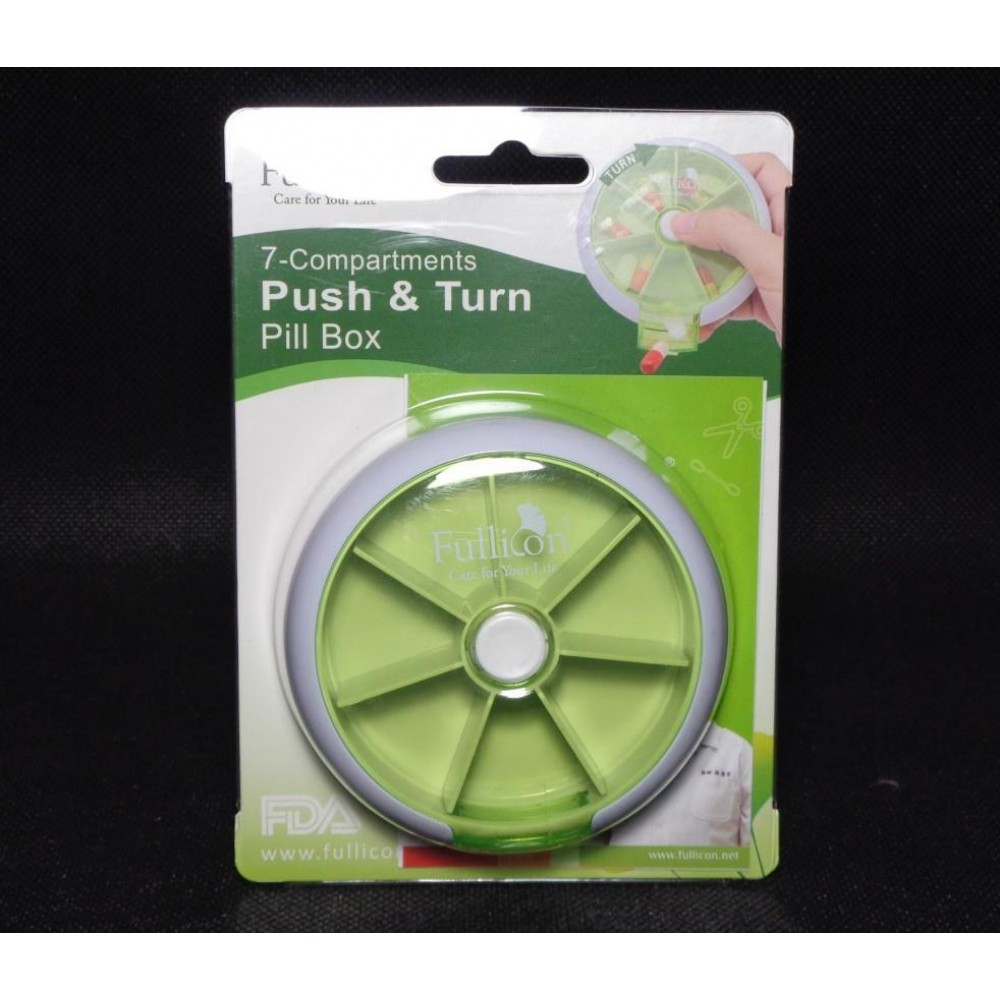 Fullicon Puch and Turn Pill Box (7 compartments)