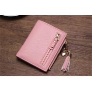 image of Woman Purse Short Wallet Mini Korean Fashion Comely Plain Color