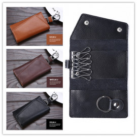 image of Key Holder Keyless Remote Leather Big Capacity