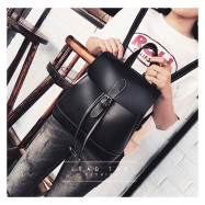 image of Woman Korean Fashion Leather Backpack Student Korean