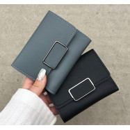 image of Woman Short Wallet Short Purse Mini Korean Fashion Euro Fashion