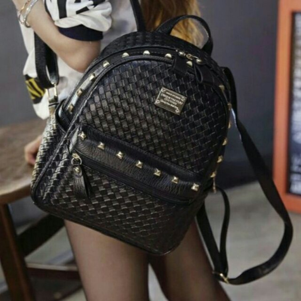 Weave Leather Fashion/Travel/College/Casual Backpack