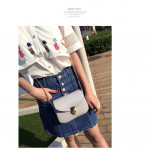 Jelly color sling bag chain bag
