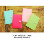 image of Pony Passport holder case passport cover colourful/Plain/Simple/Candy color