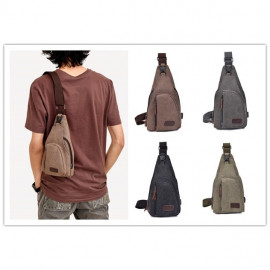 image of Canvas Chest Bag Men Crossbody casual