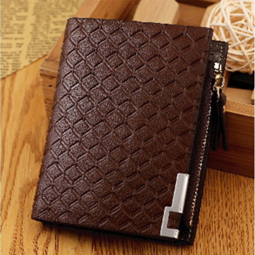 Men Wallet Purse Leather Casual Business Big Capacity Card Holder Korean Fashion