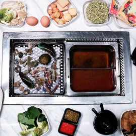 image of Asian Seafood Steamboat with Drink for 1 Adult