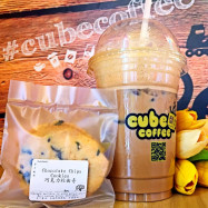 image of One (1) Cube Coffee + One (1) Chocolate Cookies