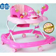 image of BBH 315 Baby Walker Free Stopper And English Song & Best Seller(Pink)
