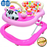 image of BBH 839 Baby Strong Based Walker With English Song And Light (Pink)