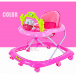 BBH 349 Baby Walker With Stopper/English Song (Pink)