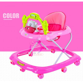 image of BBH 349 Baby Walker With Stopper/English Song (Pink)