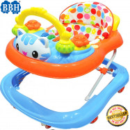 image of BBH 839 Baby Strong Based Walker With English Song And Light(Blue)