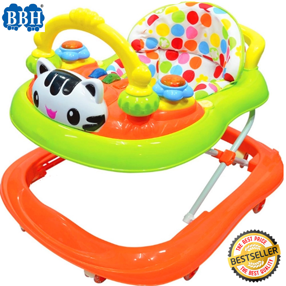 BBH 839 Baby Strong Based Walker With English Song And Light (Orange)