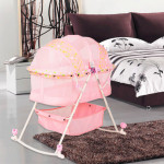 BBH 273 Baby Multi Function Foldable Rocking Bed (Pink)