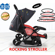 image of BBH ROCKING STROLLER WITH FREE 3 ACCESSORIES AND 1 YEAR WARRANTY