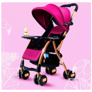 image of BBH One Second Folded Baby Light Stroller With Free Cotton Seat And Mosquito Net