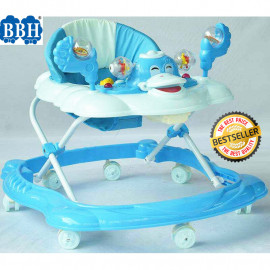 image of BBH 315 Baby Walker Free Stopper And English Song & Best Seller (Blue)