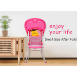 2 in 1 Premium Baby High Chair With Safety Belt With Cushion Best Seller (Pink)
