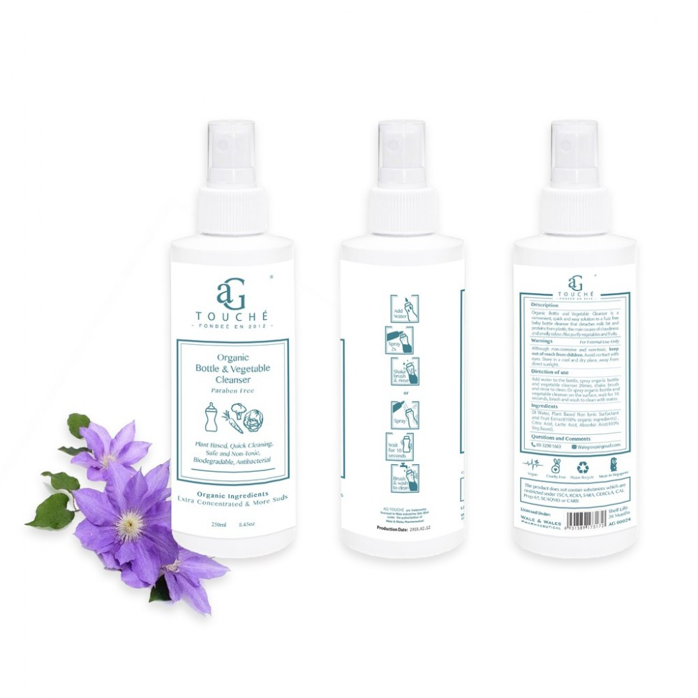 AG Touché Organic Bottle & Vegetable Cleanser (250ml)