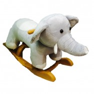 image of Woodalion Baby Elephant Infant Rocker