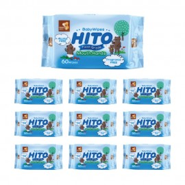 image of Hito Baby Wipes 60's for Teeth & Gums (10 Packs) [Bundle]