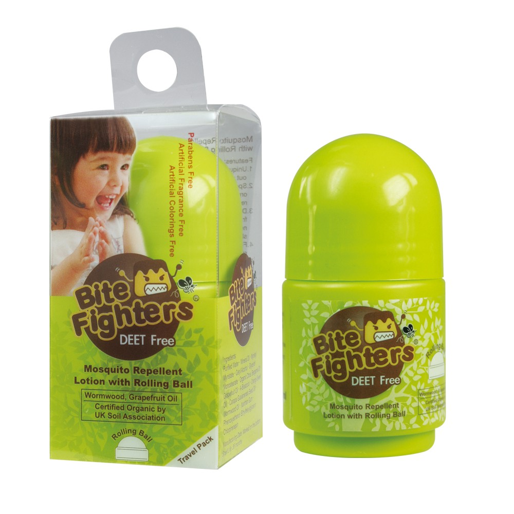 Bite Fighter Organic Mosquito Repellent Lotion With Rolling Ball 30ml, 1bottle